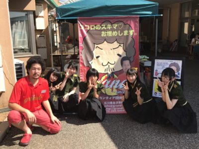 工房シティ夏祭りボランティアに参加しました。