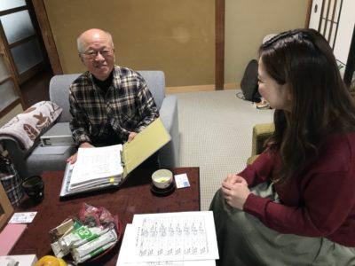 犀川河川愛護会の代表と談話(*^^*)