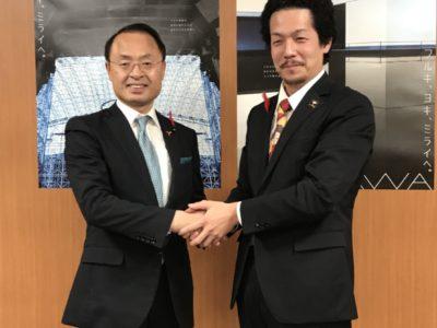 金沢市長の山野之義氏へ受賞報告として表敬訪問させていただきました(^^)