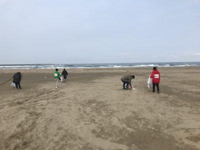 定例海岸清掃を実施しました!(^_-)