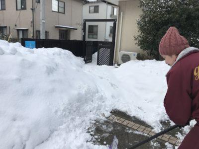 【連日通しての雪かきボランティア最終日を遂行しました!】